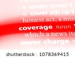 coverage word in a dictionary.... | Shutterstock . vector #1078369415