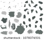 set of grey ink vector stains.... | Shutterstock .eps vector #1078376531