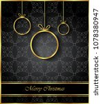 2019 merry christmas background ... | Shutterstock . vector #1078380947