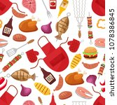 barbecue and grill for home... | Shutterstock . vector #1078386845