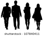 drawing of a man and a woman... | Shutterstock . vector #107840411
