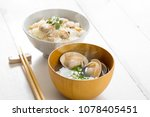 clam soup with clams and clam... | Shutterstock . vector #1078405451