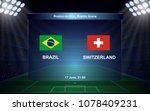brazil vs switzerland. football ... | Shutterstock .eps vector #1078409231