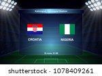 croatia vs nigeria. football... | Shutterstock .eps vector #1078409261