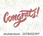 congrats  congratulations... | Shutterstock .eps vector #1078432397