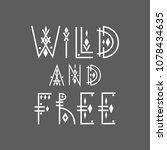 "lettering poster ""wild and free""... 