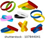 vector   set of colorful... | Shutterstock .eps vector #107844041