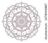 circular intricate mandala... | Shutterstock .eps vector #1078443887