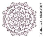 circular intricate mandala... | Shutterstock .eps vector #1078443899