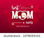 happy mother's day background... | Shutterstock .eps vector #1078454141