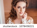 portrait of gorgeous young... | Shutterstock . vector #1078458221