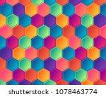 colorful honeycomb. hexagonal... | Shutterstock .eps vector #1078463774