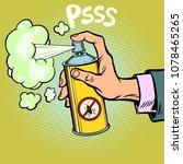 pest control spray against... | Shutterstock .eps vector #1078465265