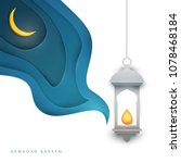 ramadan kareem islamic... | Shutterstock .eps vector #1078468184