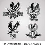 american eagle military marine... | Shutterstock .eps vector #1078476011