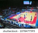 blurred background. basketball...   Shutterstock . vector #1078477595
