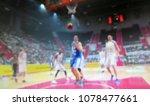 blurred background. basketball...   Shutterstock . vector #1078477661