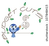 budget cuts   twig text... | Shutterstock .eps vector #107848415