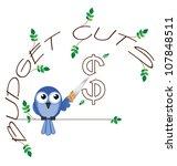 budget cuts   twig text... | Shutterstock . vector #107848511