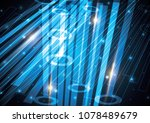 technology abstract stripe... | Shutterstock .eps vector #1078489679