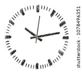 round dial of analog clock.... | Shutterstock .eps vector #1078496351