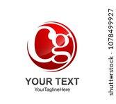 initial letter cg logo template ... | Shutterstock .eps vector #1078499927