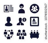 set of 9 user filled icons such ... | Shutterstock .eps vector #1078502567
