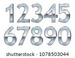silver numbers.vector metal... | Shutterstock .eps vector #1078503044