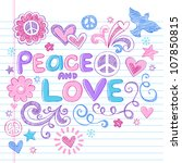 peace   love sketchy notebook...