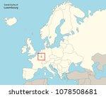 europe map luxemburg | Shutterstock .eps vector #1078508681