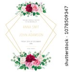 wedding floral template... | Shutterstock .eps vector #1078509347