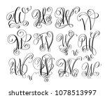 calligraphy lettering script... | Shutterstock .eps vector #1078513997