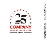 anniversary 25th company logo... | Shutterstock .eps vector #1078521917