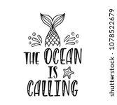 the ocean is calling.... | Shutterstock .eps vector #1078522679