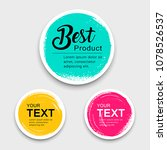 colorful label paper circle... | Shutterstock .eps vector #1078526537