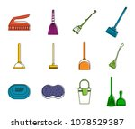 cleaning tool icon set. color... | Shutterstock .eps vector #1078529387