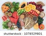 high fibre health food concept... | Shutterstock . vector #1078529801