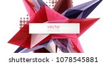 colorful blooming crystals... | Shutterstock .eps vector #1078545881