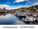 Moored Boats At Tarbert Harbour....