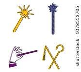 magic stick icon set. color... | Shutterstock .eps vector #1078553705
