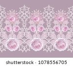 seamless pattern. decorative... | Shutterstock . vector #1078556705