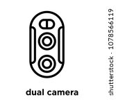 dual camera icon isolated on... | Shutterstock .eps vector #1078566119