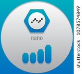 nano. crypto currency sign... | Shutterstock .eps vector #1078574849