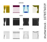 curtains  drapes  garters  and... | Shutterstock .eps vector #1078576019