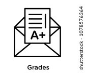 grades icon isolated on white... | Shutterstock .eps vector #1078576364