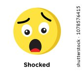 shocked icon isolated on white... | Shutterstock .eps vector #1078576415