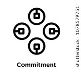 commitment icon isolated on... | Shutterstock .eps vector #1078579751