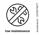 low maintenance icon isolated...   Shutterstock .eps vector #1078579877
