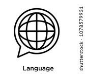 language icon isolated on white ... | Shutterstock .eps vector #1078579931