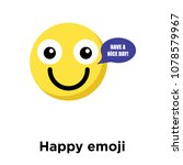 happy emoji icon isolated on... | Shutterstock .eps vector #1078579967